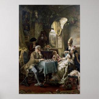 Los jugadores de ajedrez, 1887 2 póster