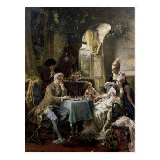 Los jugadores de ajedrez, 1887 2 postal