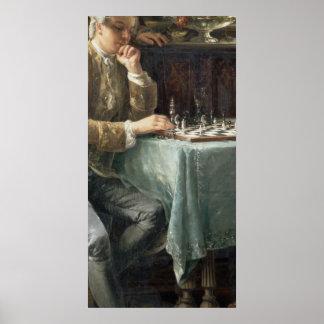Los jugadores de ajedrez, 1887 póster
