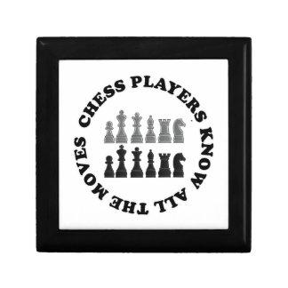 Los jugadores de ajedrez divertidos saben todo el  cajas de recuerdo