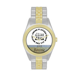 Los jugadores de ajedrez divertidos saben todos lo relojes de pulsera