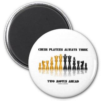 Los jugadores de ajedrez piensan siempre dos imán redondo 5 cm