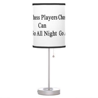 Los jugadores de ajedrez pueden ir toda la noche