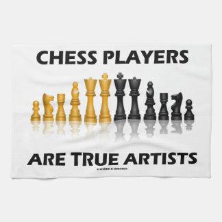 Los jugadores de ajedrez son artistas verdaderos toallas de cocina