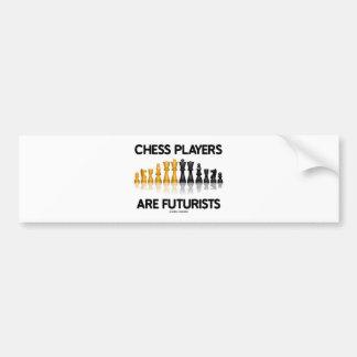 Los jugadores de ajedrez son futuristas (el juego  pegatina de parachoque
