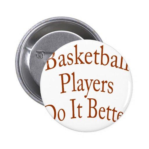 Los jugadores de básquet mejora pin