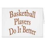 Los jugadores de básquet mejora tarjetón