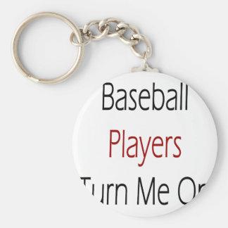 Los jugadores de béisbol me giran llavero redondo tipo pin