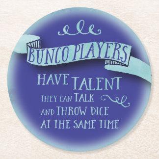 Los jugadores de Bunco tienen talento - estilo del Posavasos De Cartón Redondo