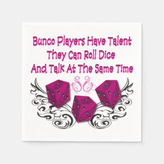 Los jugadores de Bunco tienen talento por Servilleta Desechable