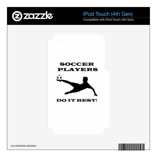 Los jugadores de fútbol lo hacen mejor iPod touch 4G calcomanía