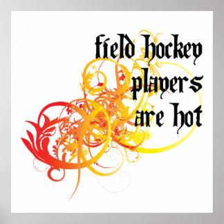 Los jugadores de hockey hierba son calientes impresiones