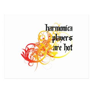 Los jugadores de la armónica son calientes postales