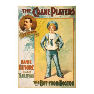 Los jugadores de la grúa, el muchacho del teatro d lona envuelta para galerias
