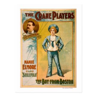 Los jugadores de la grúa, el muchacho del teatro tarjeta postal