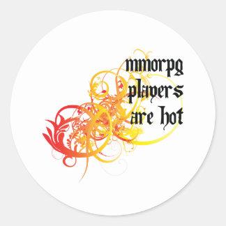 Los jugadores de MMORPG son calientes Etiquetas Redondas