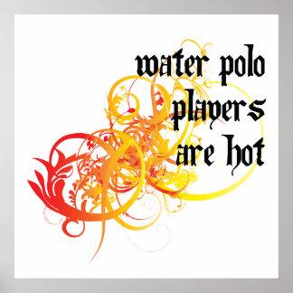 Los jugadores de polo del agua son calientes posters