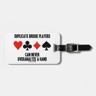Los jugadores de puente duplicados pueden nunca Ov Etiquetas Para Maletas