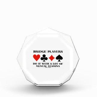 Los jugadores de puente lo hacen con mucho vigor