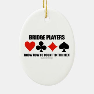 Los jugadores de puente saben contar a trece ornamente de reyes