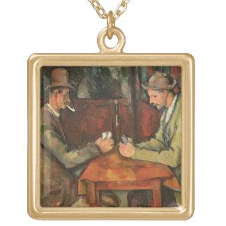Los jugadores de tarjeta, 1893-96 collar dorado