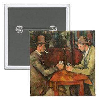 Los jugadores de tarjeta, 1893-96 pin cuadrado