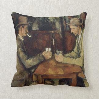 Los jugadores de tarjeta de Paul Cézanne 1895 Cojin