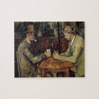 Los jugadores de tarjeta de Paul Cézanne 1895 Puzzles Con Fotos