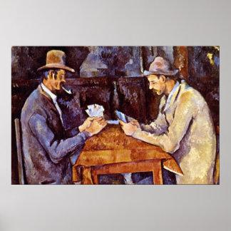Los jugadores de tarjeta de Paul Cezanne Posters
