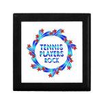 Los jugadores de tenis oscilan las estrellas rojas caja de recuerdo