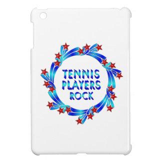 Los jugadores de tenis oscilan las estrellas rojas iPad mini coberturas