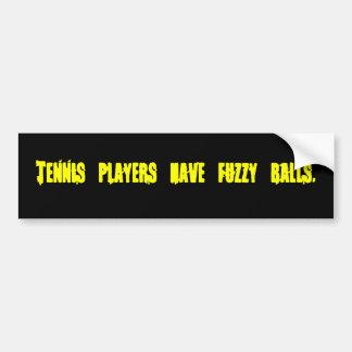 Los jugadores de tenis tienen el pegatina borroso  pegatina para auto
