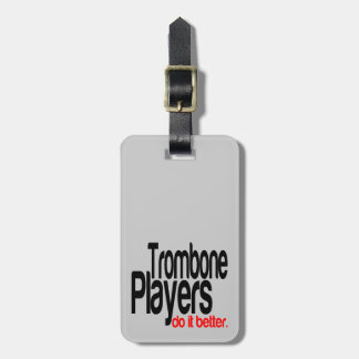 Los jugadores de Trombone mejora Etiquetas Maletas