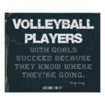 Los jugadores de voleibol con metas tienen éxito e posters