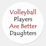 Los jugadores de voleibol son mejores hijas etiqueta redonda
