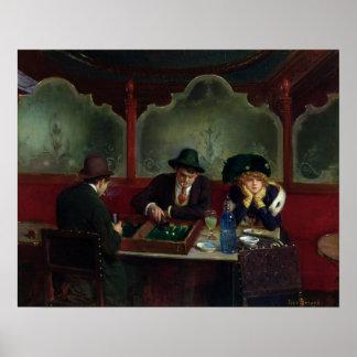 Los jugadores del backgammon póster