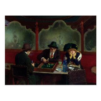 Los jugadores del backgammon postal