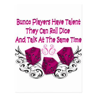 los jugadores del bunco tienen talento #2 postal