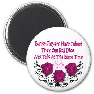 Los jugadores del Bunko tienen talento Imán Redondo 5 Cm