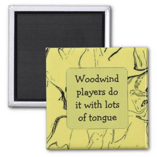 los jugadores del instrumento de viento de madera  iman
