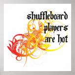 Los jugadores del Shuffleboard son calientes Impresiones