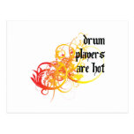Los jugadores del tambor son calientes tarjeta postal