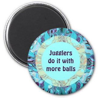 Los juglares bromea imán redondo 5 cm