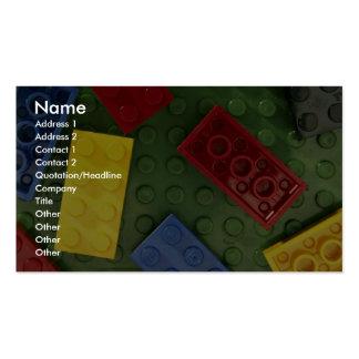 Los juguetes de los niños coloridos tarjetas de negocios