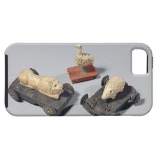 Los juguetes de los niños un erizo un león y una iPhone 5 Case-Mate coberturas
