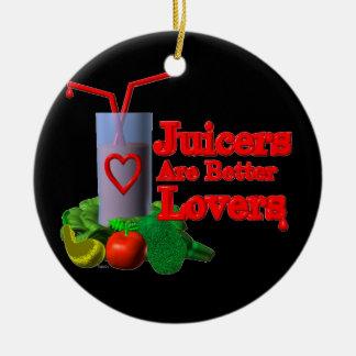 Los Juicers son mejores amantes por Valxart.com Adorno Navideño Redondo De Cerámica