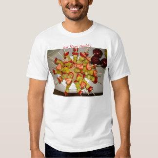 Los Kabobs 2 de la fruta, comen el corazón sano Poleras