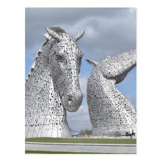 los Kelpies, parque de la hélice, Falkirk, Escocia Postal