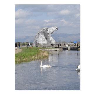 los Kelpies, parque de la hélice, Falkirk Tarjeta Postal