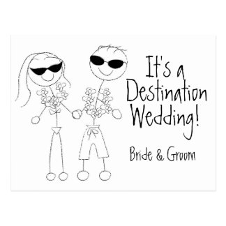Los KRW ahorran la invitación de boda del destino Postal